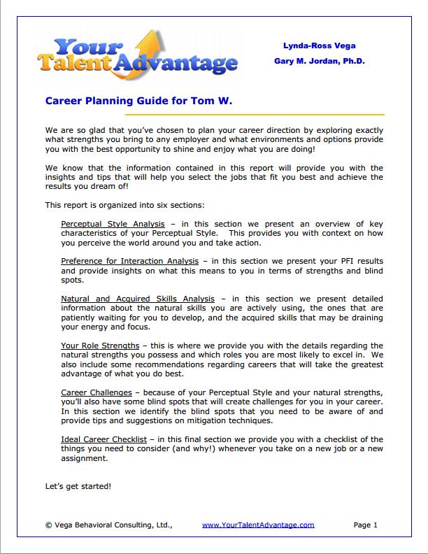 how to write a job plan